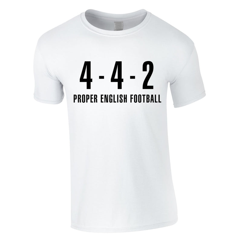 4-4-2 Proper English Football Tee In White
