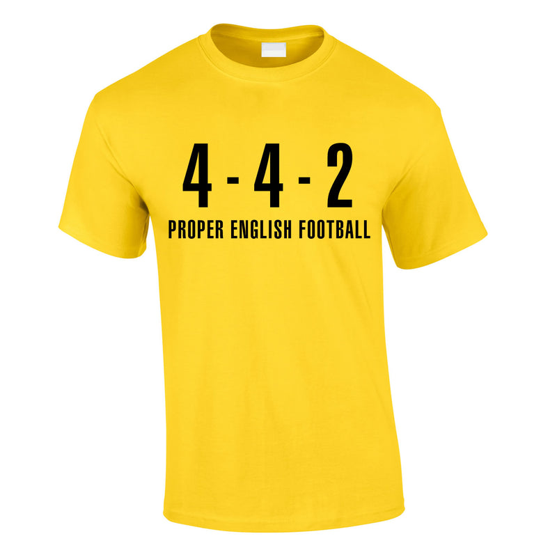 4-4-2 Proper English Football Tee In Yellow