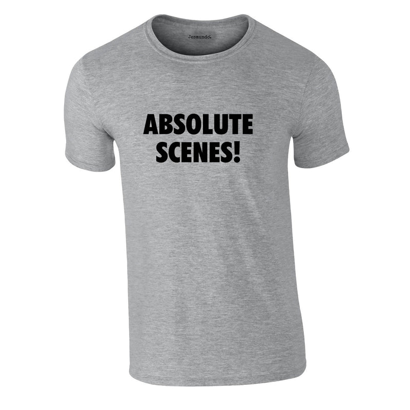 Absolute Scenes Tee In Grey