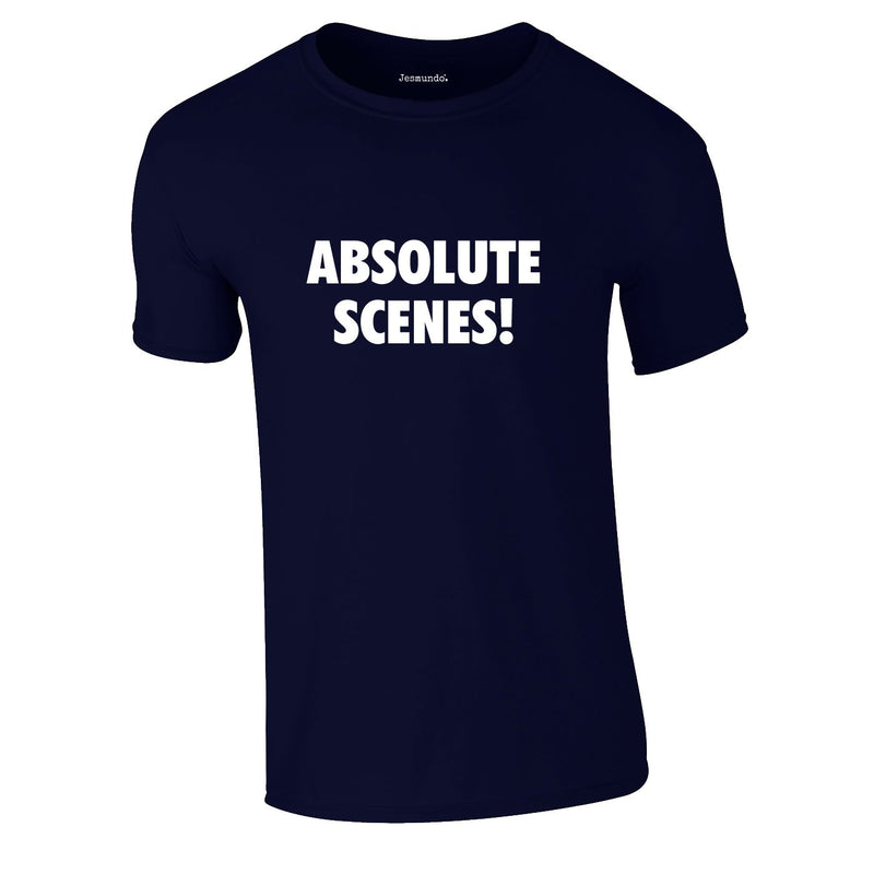 Absolute Scenes Tee In Navy