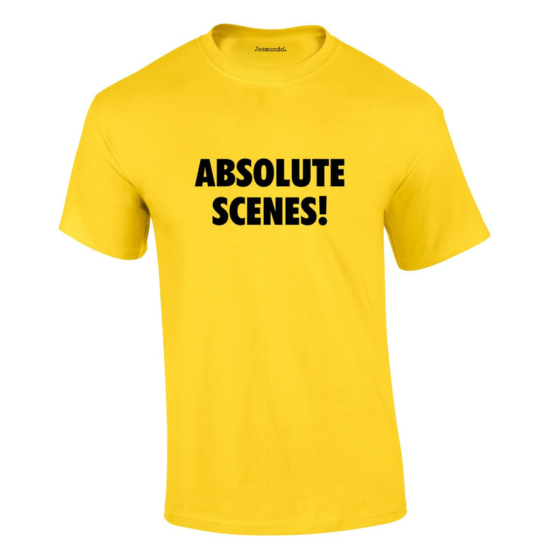 Absolute Scenes Tee In Yellow