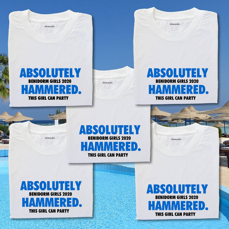 Absolutely Hammered Personalised T-Shirts For Girls Holiday