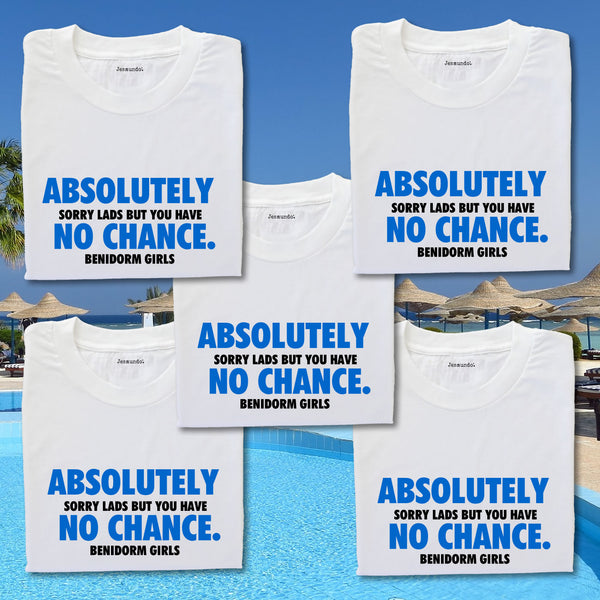 Absolutely No Chance Girls Holiday Tops Personalised