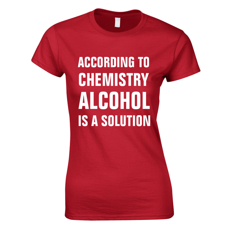 According To Chemistry Alcohol Is A Solution Ladies Top In Red