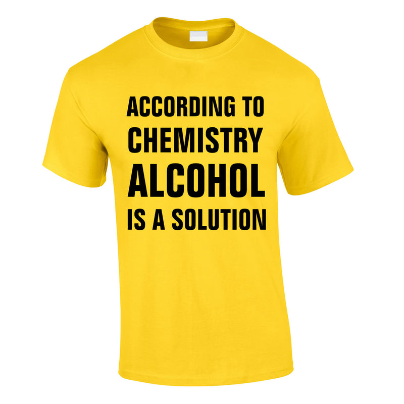 According To Chemistry Alcohol Is A Solution Tee In Yellow
