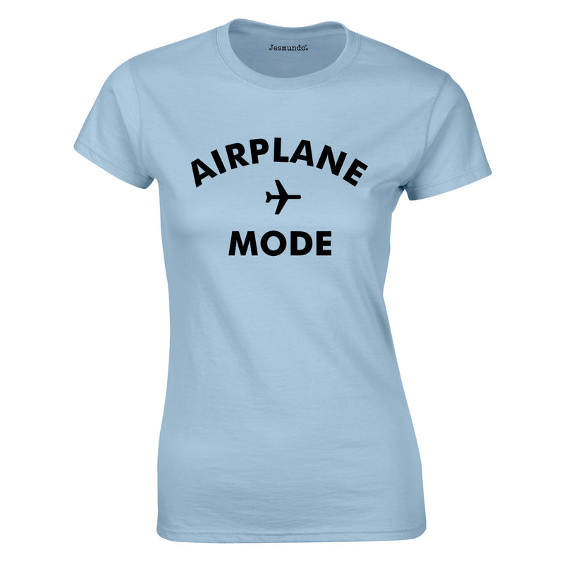 Airplane Mode Ladies Top In Sky