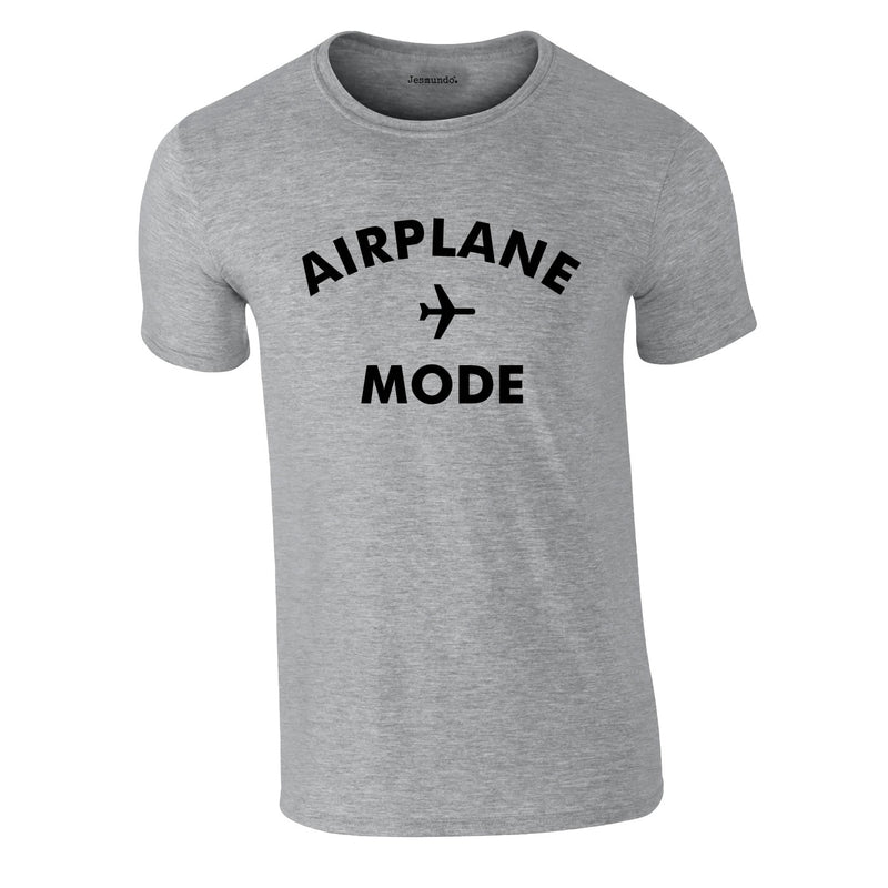 Airplane Mode Men's Tee In Grey