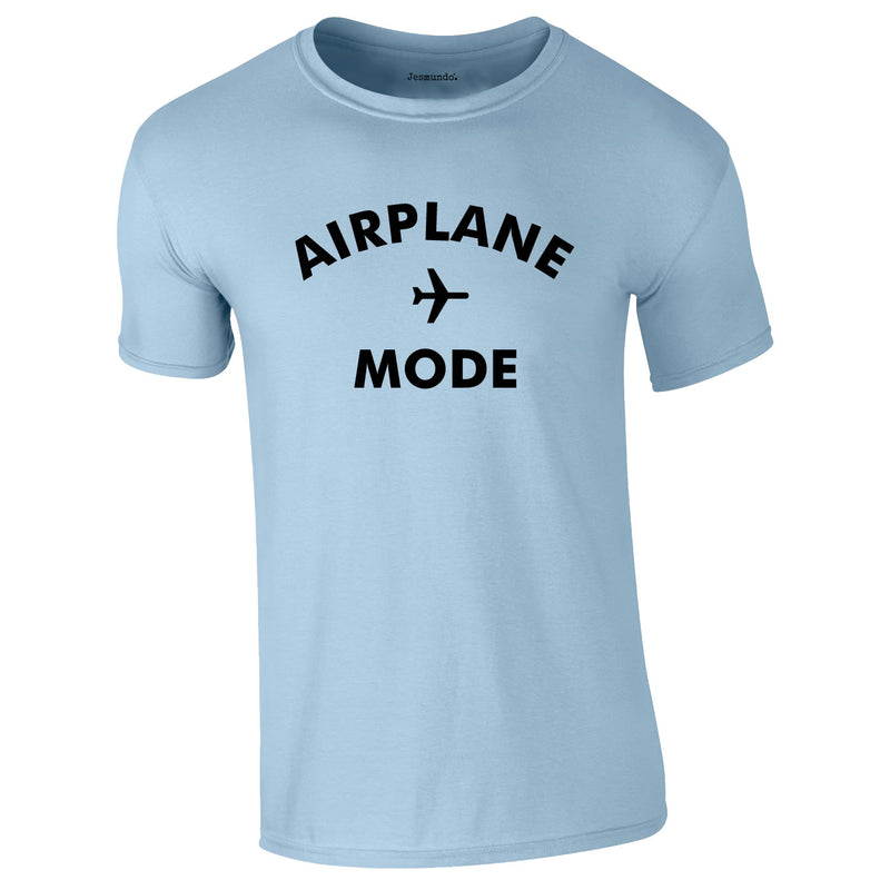 Airplane Mode Men's Tee In Sky