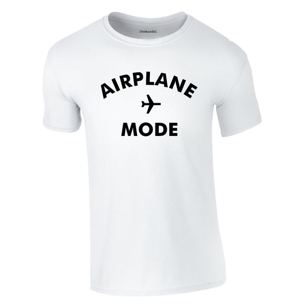 Airplane Mode Men's Tee In White