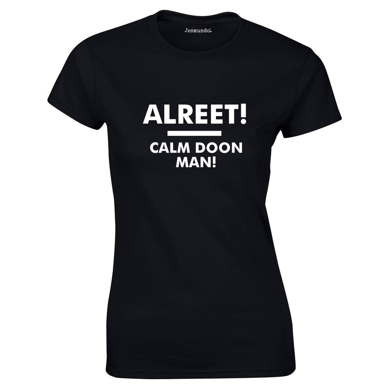 Alreet Calm Doon Man Ladies Tee In Black