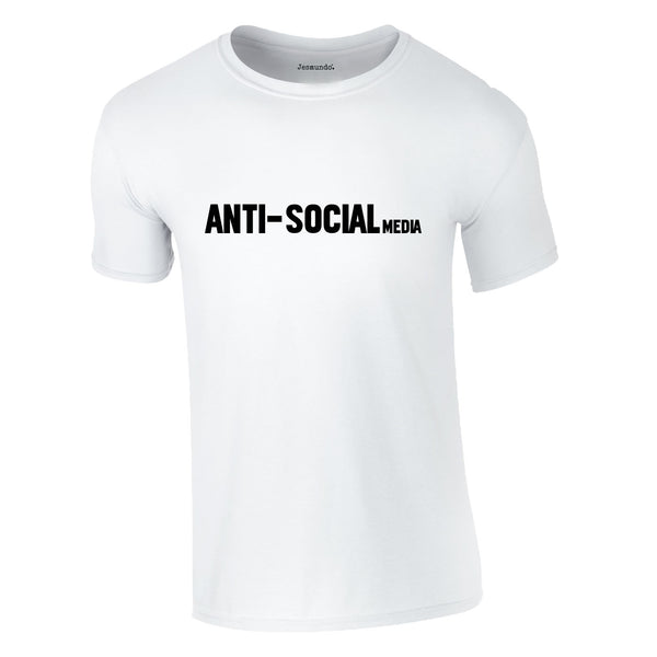 Anti Social Media Tee In White