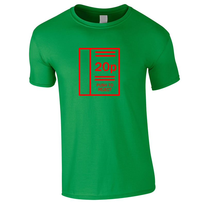 Arcade Machine Inspired Tee In Green