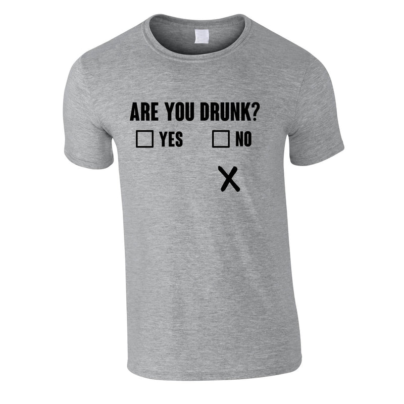 Are You Drunk Funny Tee In Grey