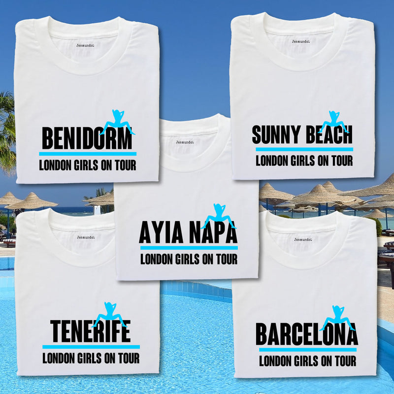 Hens On Tour Marbella Personalised Tee