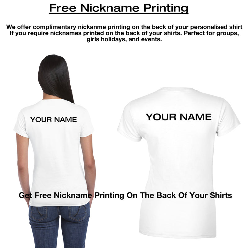 Free Nickname printing on the back