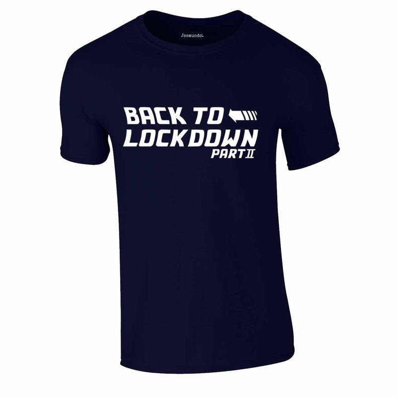 Back To Lockdown Tee In Navy