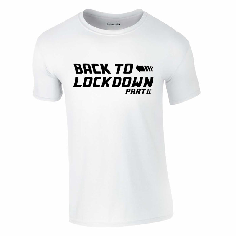 Back To Lockdown Tee In White