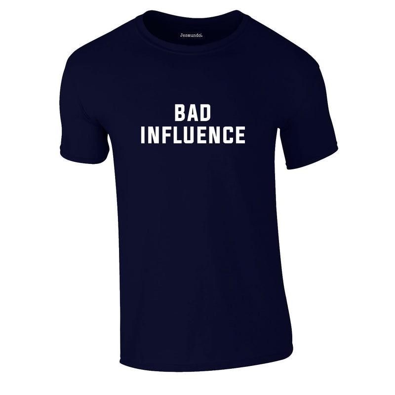 Bad Influence Tee In Navy