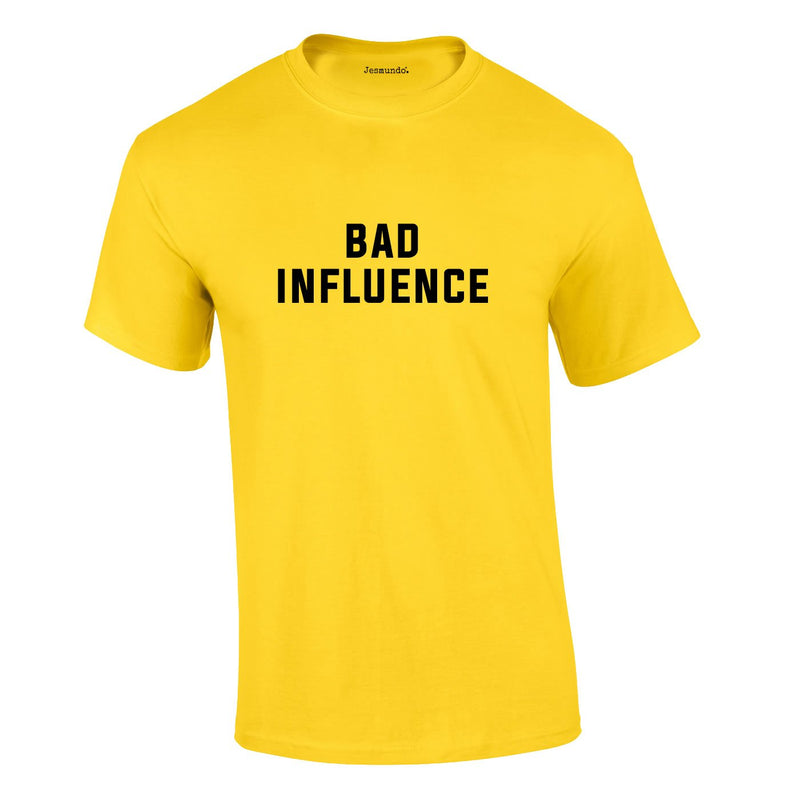 Bad Influence Tee In Yellow