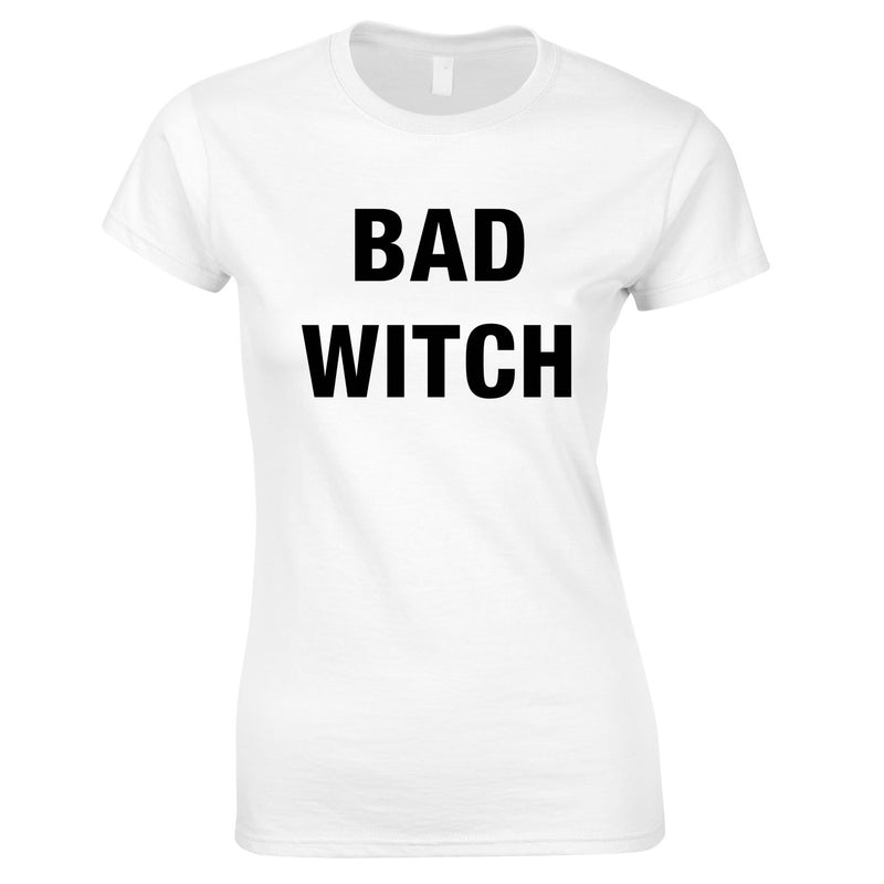 Bad Witch Top In White