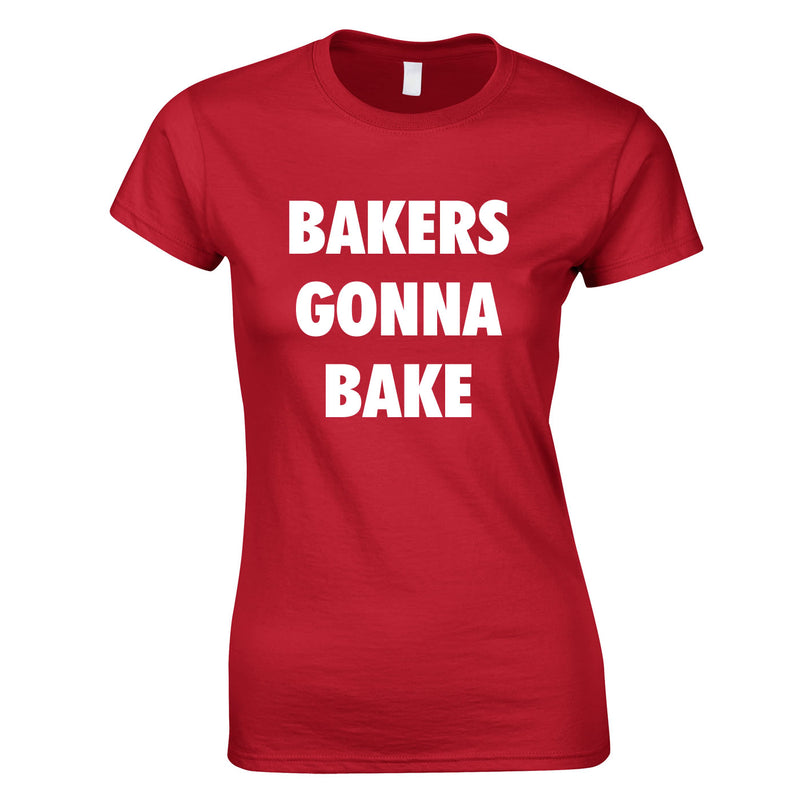 Bakers Gonna Bake Top In Red