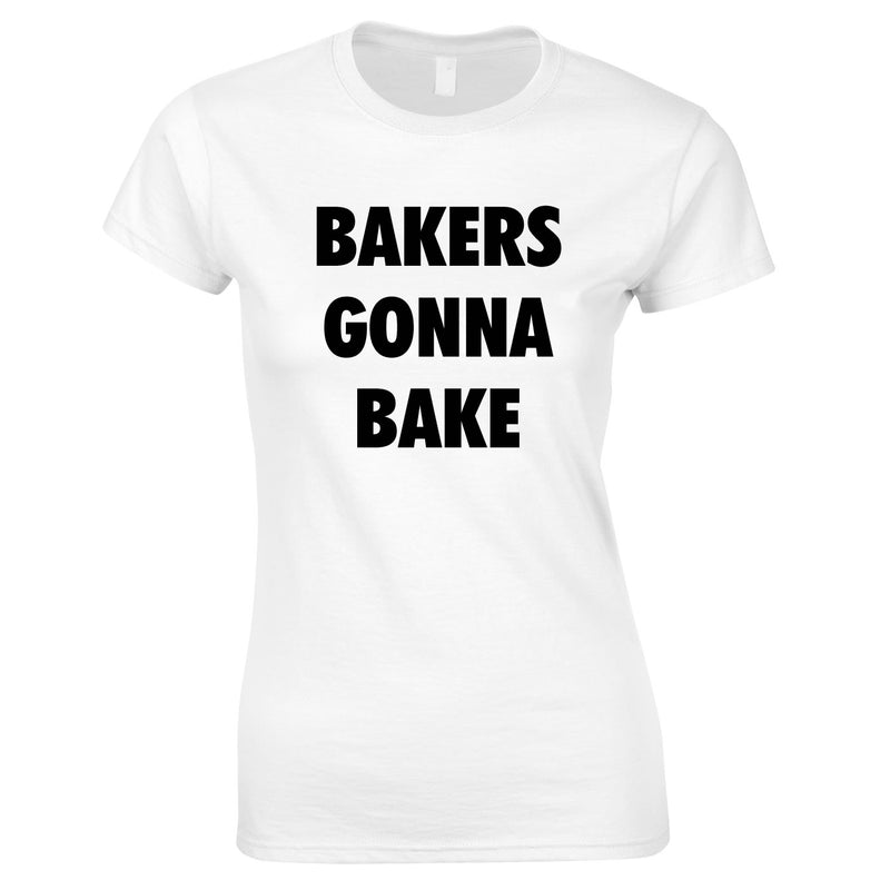 Bakers Gonna Bake Top In White