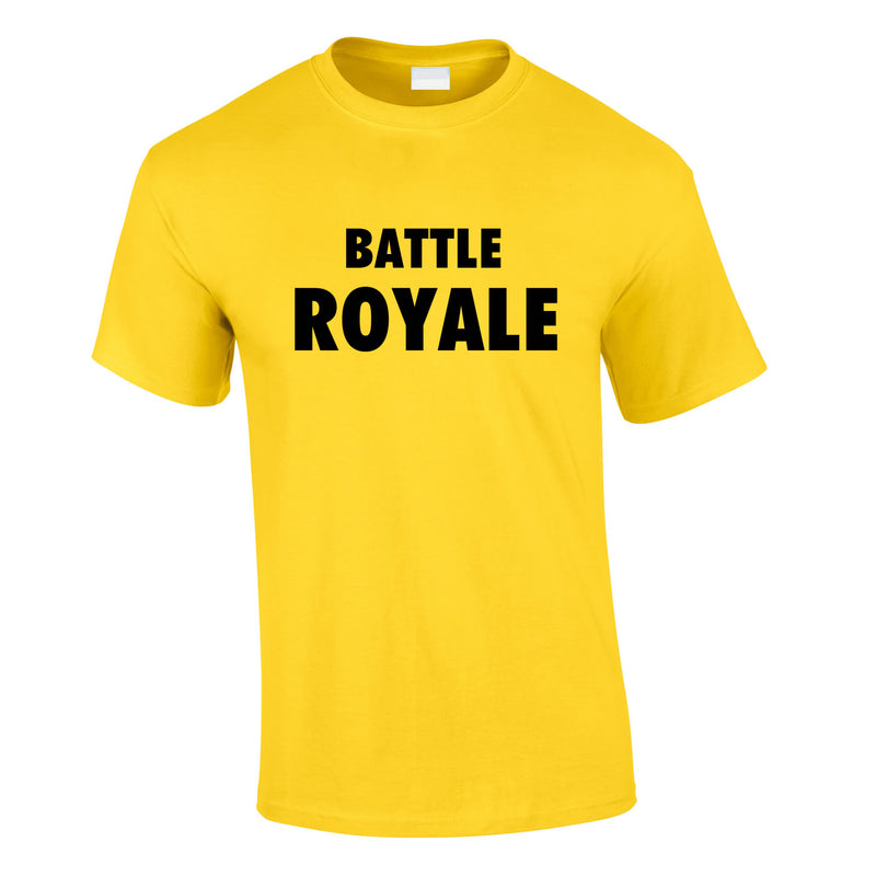 Battle Royale Tee In Yellow