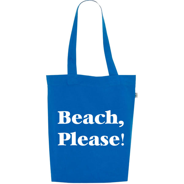 Beach Please Tote Bag In Blue