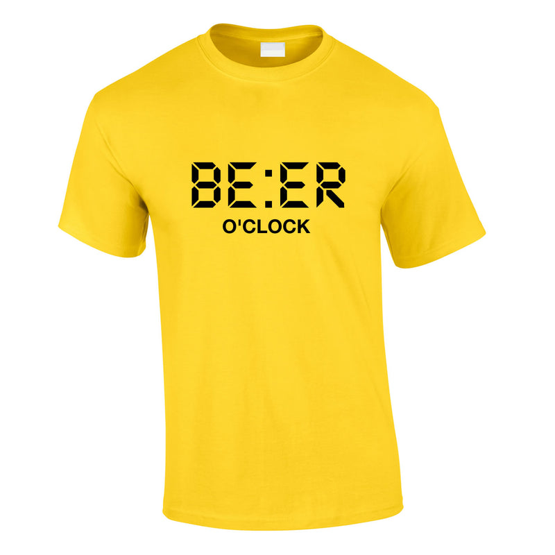 Beer O'Clock Tee In Yellow