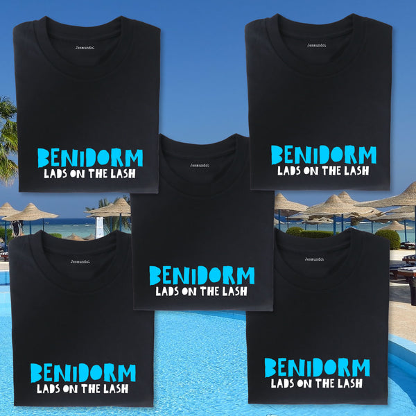 Benidorm Lads Holiday Custom Printed T Shirts