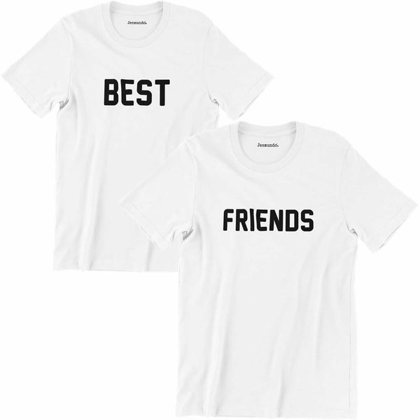 Best Friends T Shirts In White