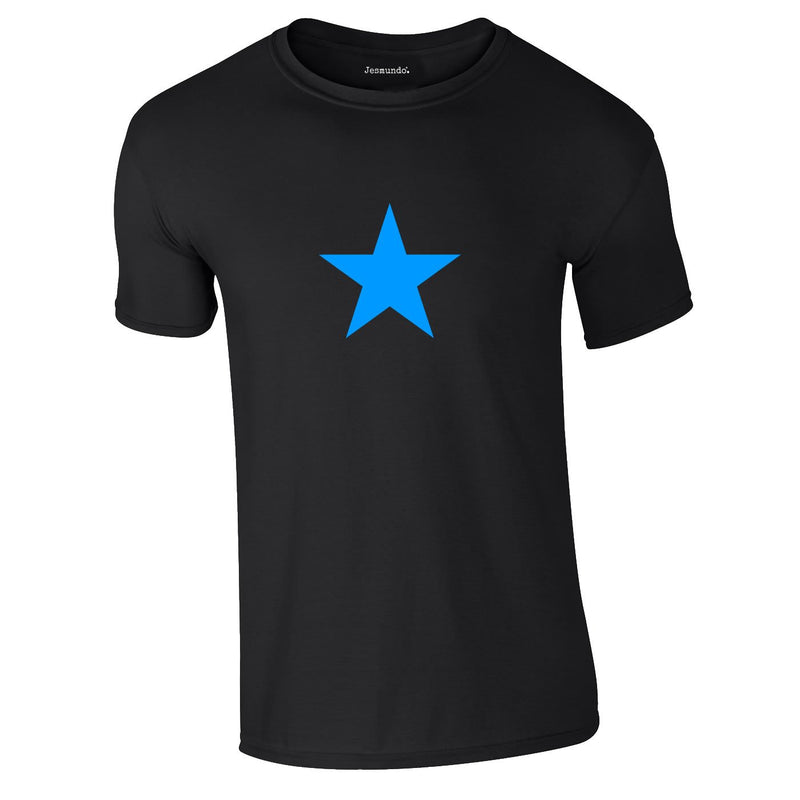 Blue Star Tee In Black