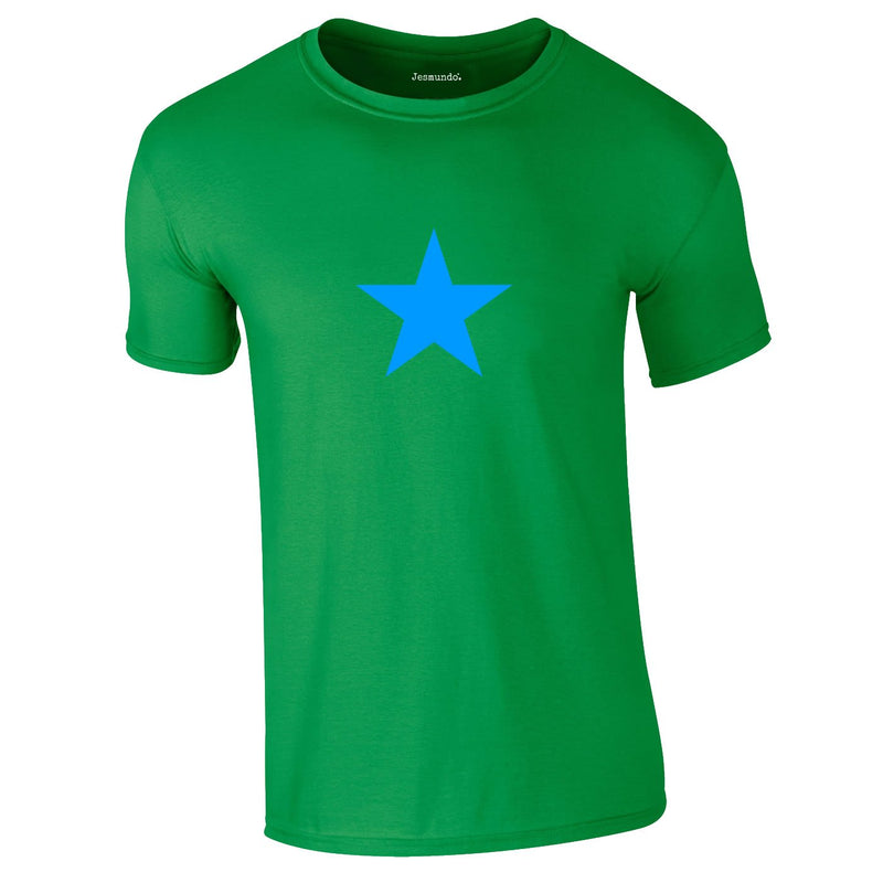 Blue Star Tee In Green