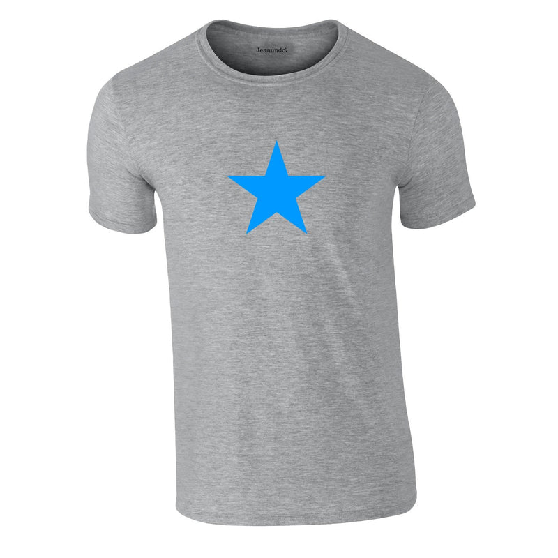 Blue Star Tee In Grey