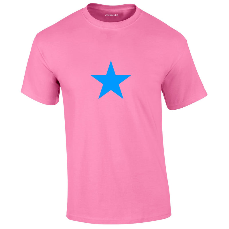 Blue Star Tee In Pink