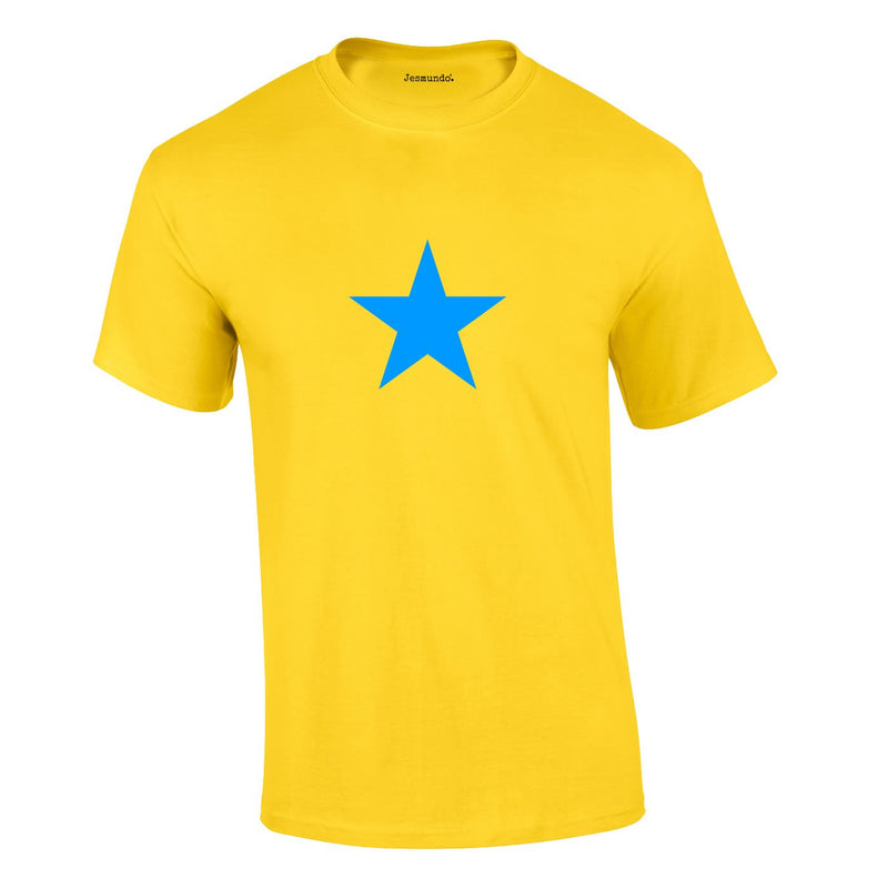 Blue Star Tee In Yellow