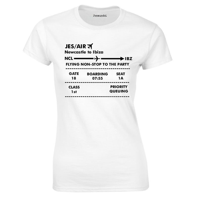 Boarding Pass Ladies top In White