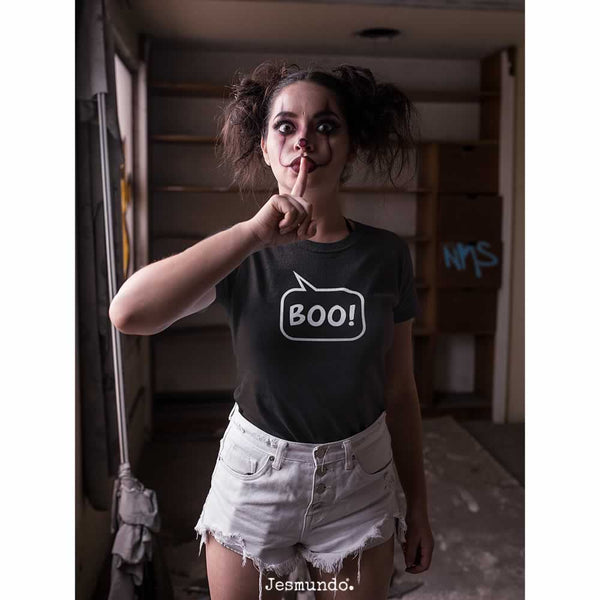 Women's Boo Speech Bubble T-Shirt