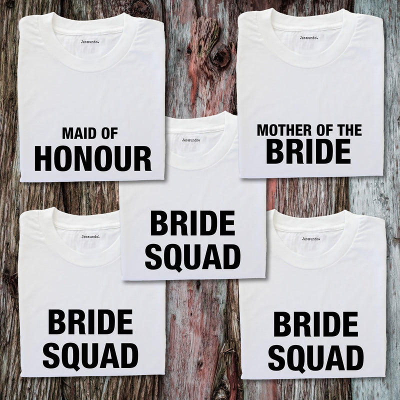 Bride & Bridesmaids Personalised T-Shirts