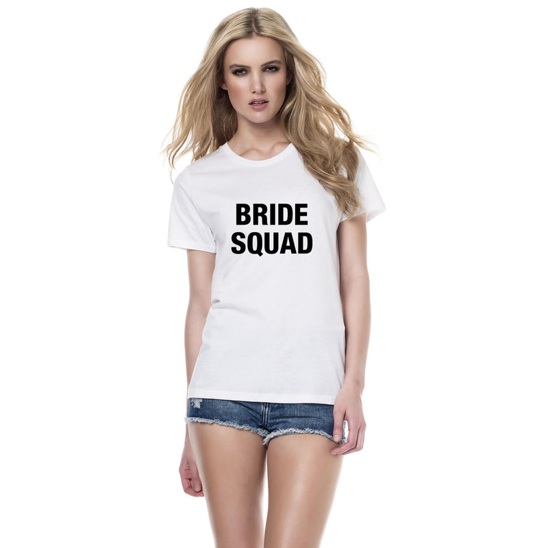 Bride Squad Slogan T Shirts Personalised For Hen Party