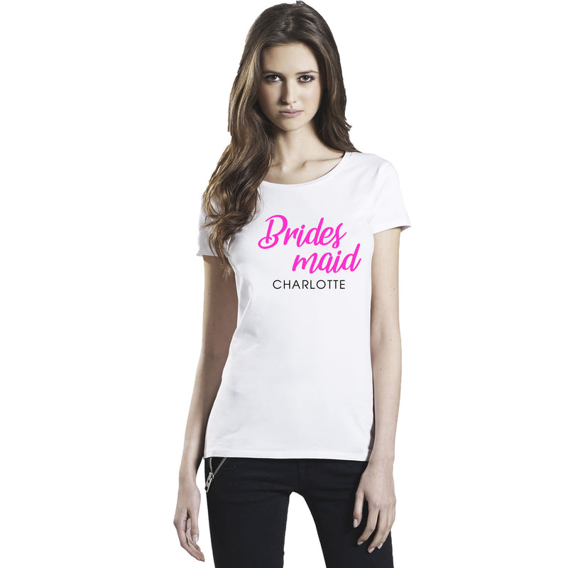 Bride & bridesmaid personalised T-Shirts