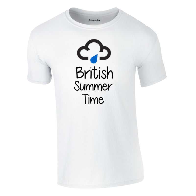 British Summer Time T Shirt In White
