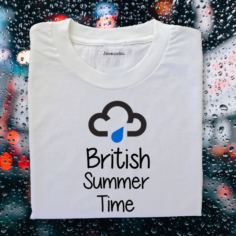 British Summer Time Tee Design With Rain Cloud