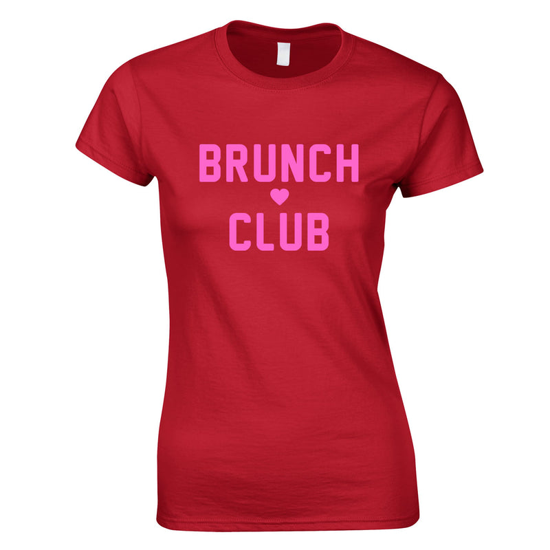 Brunch Club Top In Red