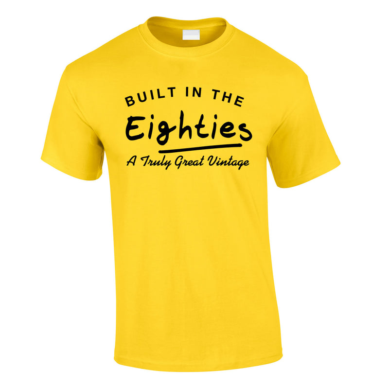 Built In The 80's Tee In Yellow