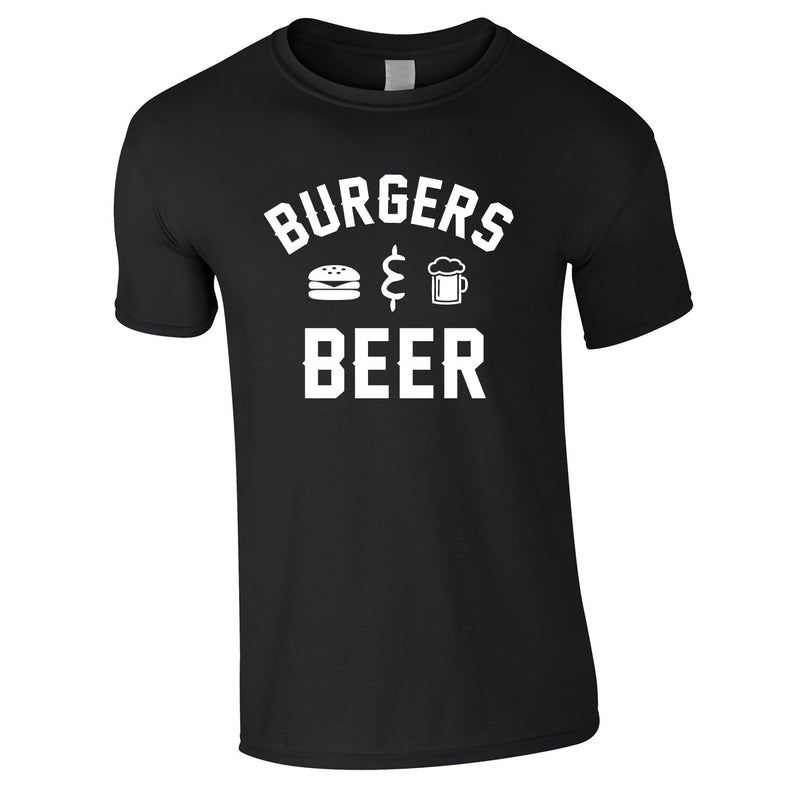 Burgers And Beer Tee In Black