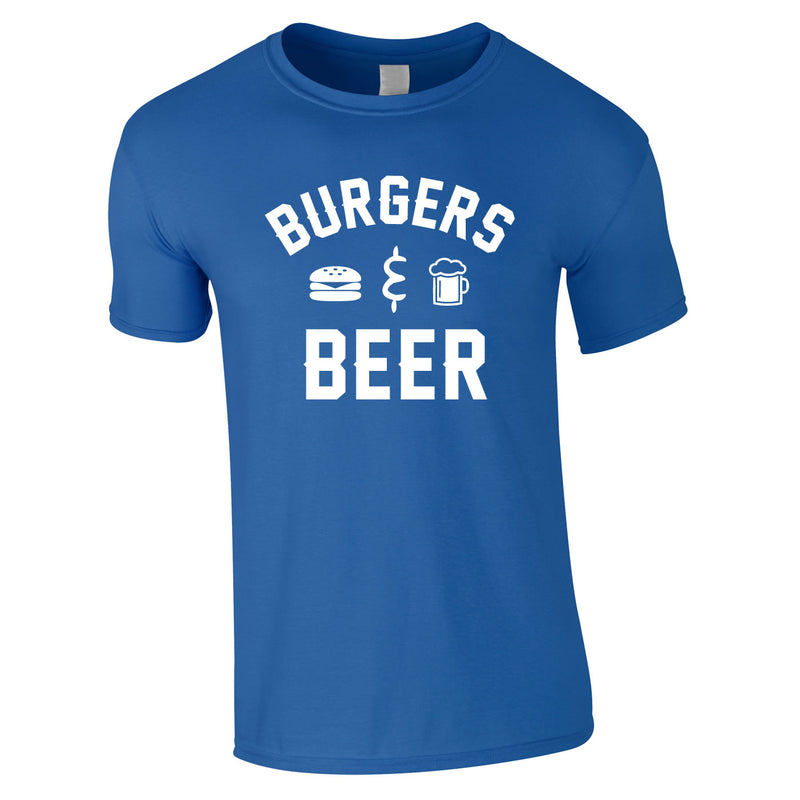 Burgers And Beer Tee In Royal