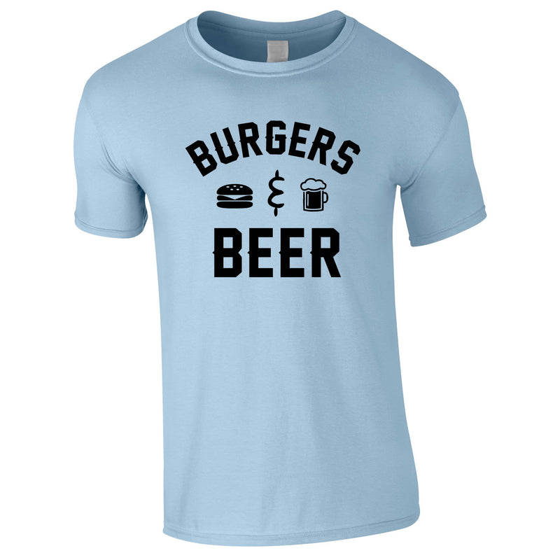 Burgers And Beer Tee In Sky
