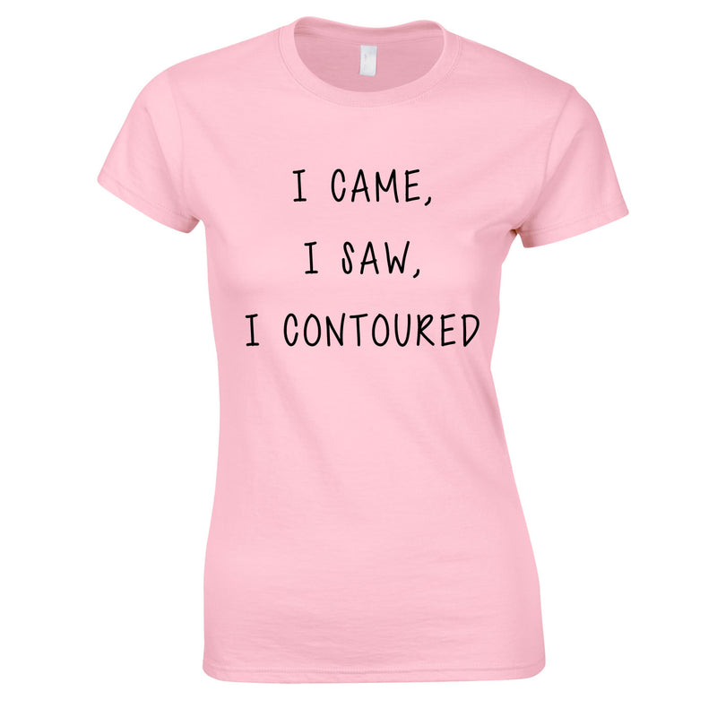 I Came I Saw I Contoured Top In Pink