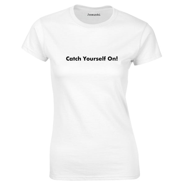 Catch Yourself On Tee In White